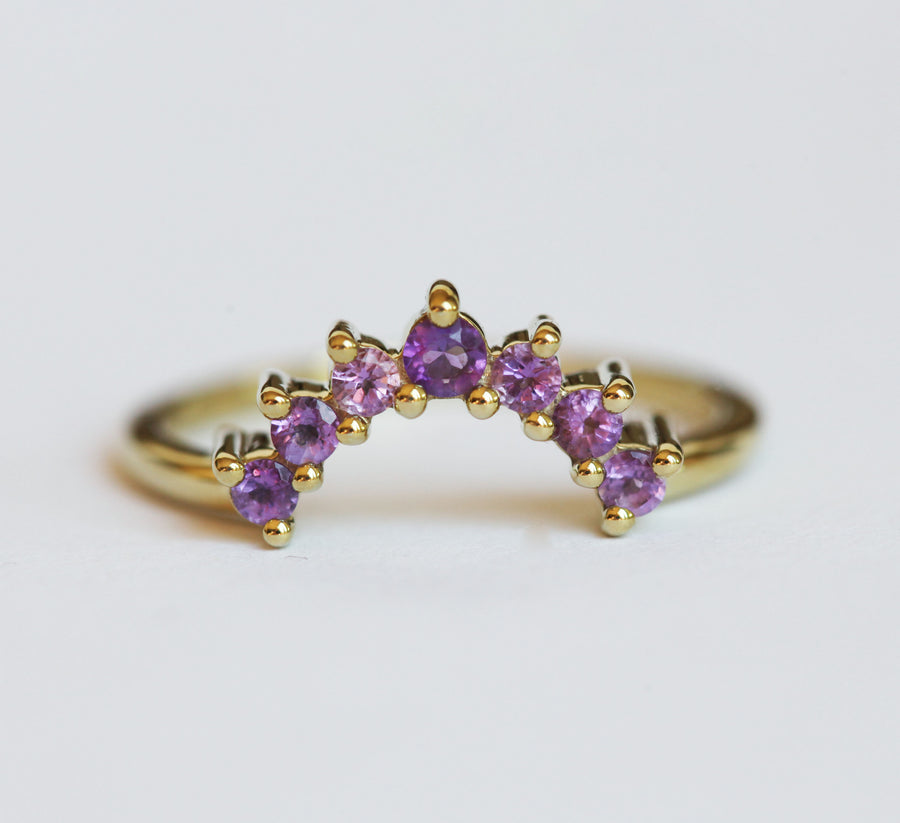 Lana Curved Amethyst Band
