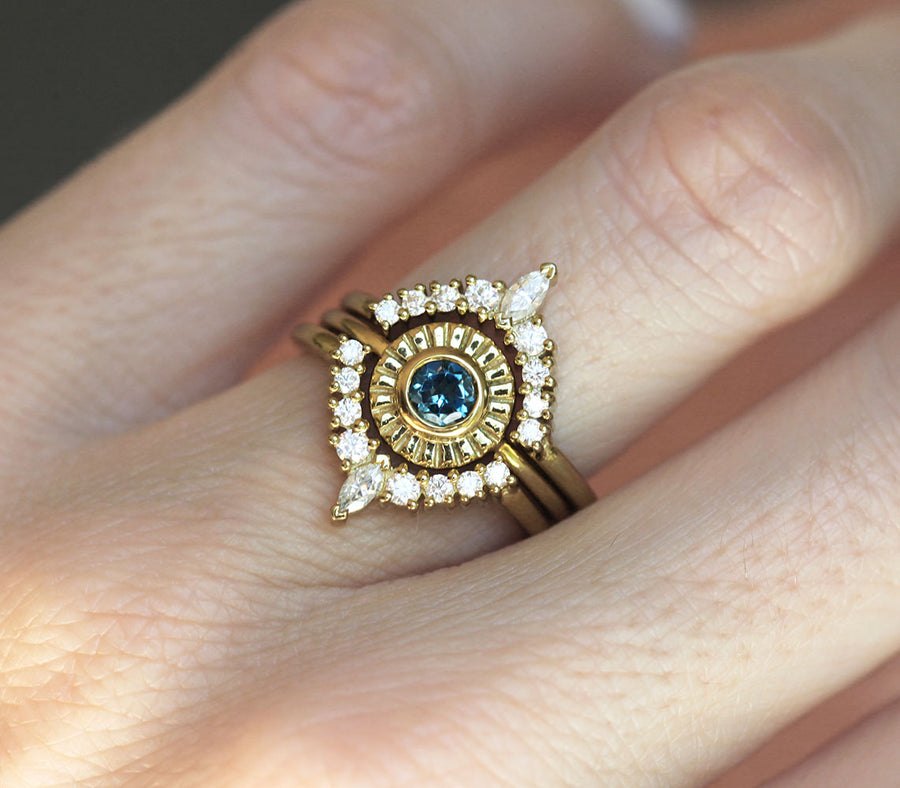 Ariana London Blue Topaz Solitaire Ring
