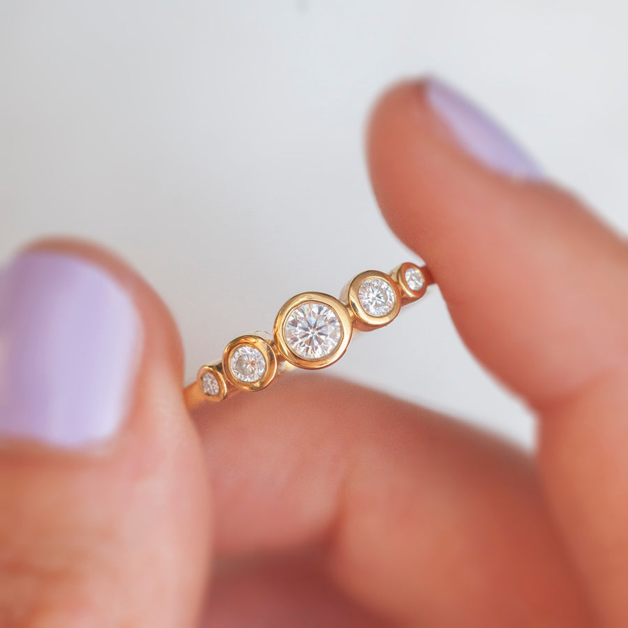 Filipa Moissanite Bezel Ring