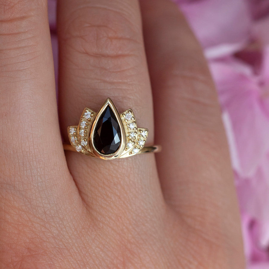 Santana Halo Black Spinel Ring