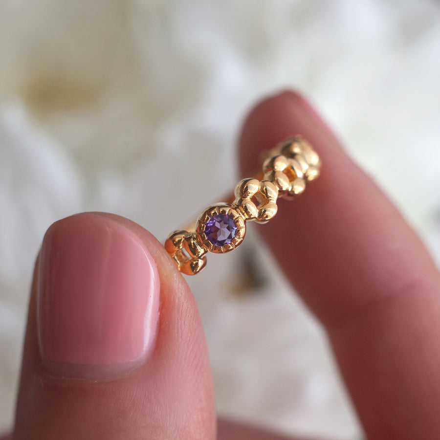 Anna Stacking Band with Amethyst