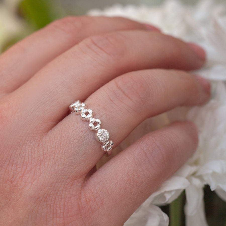Anna Stacking Band with Moissanite