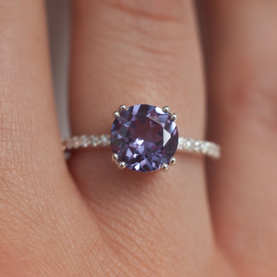 Corinne Lab Alexandrite Solitaire Ring