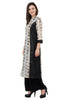 IndiWeaves Women Chanderi Silk Printed Black Kurti