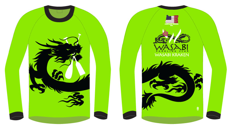 Wasabi Kraken- Men's H2O Long Sleeve Jersey
