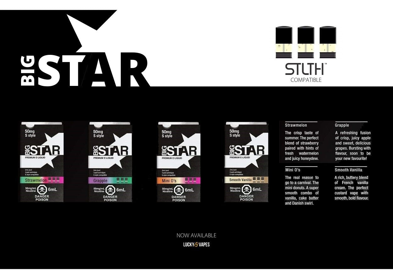 Free Shipping big Star STLTH Pods Available Now Click Here To Shop Vape