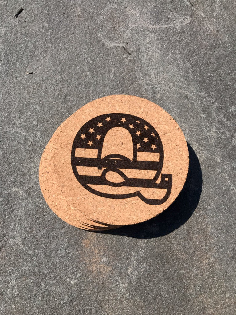 Q USA Cork Coasters 🇺🇸