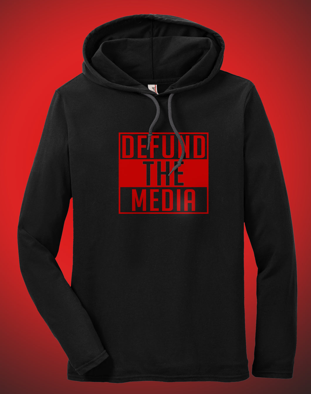 Defund The Media Hooded T