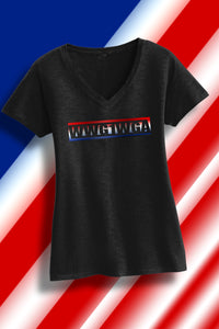 WWG1WGA Lady V-Neck