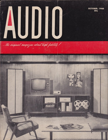 October 1960 Audio Magazine cover, showing a pair of KLH Nines