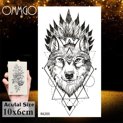 3D Rhombus Triangle | Skull | Nun Temporary Waterproof Tattoo Sticker | Full Body | 25 Designs To Choose From - Designed By Sora