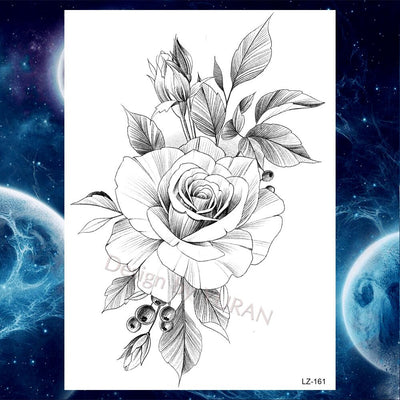 25 Designs | Tulip Totem | Butterfly | Rose Chains | Temporary Tattoos For Women | Full Body | Waist | - Designed By Void Arm