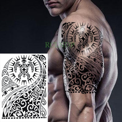 Temporary Waterproof Tattoo | Tribal Totem | Full Body | Unisex - Designed By David Senzu