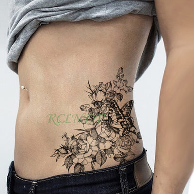 Waterproof Temporary Tattoo | Bird | Flower | Rose | Various Designs Available - Designed By Elaine