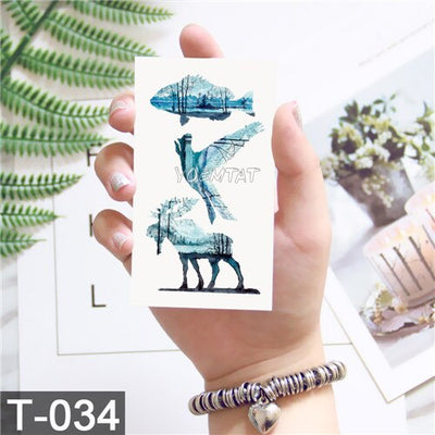 Whale Planet Sea Animals Temporary Waterproof Tattoos | Full Body | Many More Designs - Designed By Big Papa