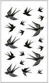 Waterproof Temporary Tattoo | Feather Fly Bird | Arm | Leg | Wrist | Foot | Hand | Shoulder | Unisex - Designed By Jimmy Tatts