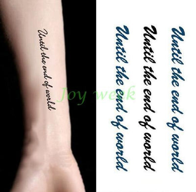 Temporary Waterproof  Tattoo | Words | Letter | Sentence | Full Body - Designed By Gina G