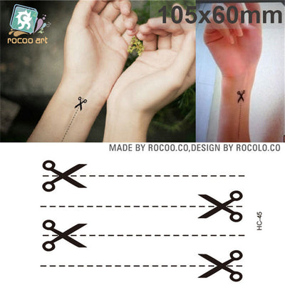 Waterproof Temporary Tattoos | 3D Crown Design | Scissors | Various Other Styles Available - Designed By Chelsea