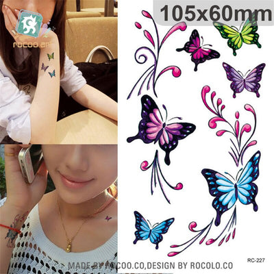 3D Butterfly Body Waterproof Temporary Tattoos | Awesome Colors | More Amazing Designs Available - Designed By Hatori Hanzo
