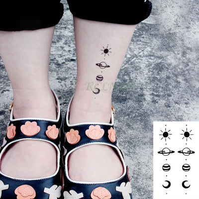 Waterproof Temporary Tattoo | Moon Hill Forest Star | Full Body | Hand Foot | Unisex - Designed By Kaito Sama