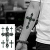 Waterproof Temporary Tattoo | Cross Tribal | Totem | Neck | Hand | Back | Foot | Full Body - Designed By Riku