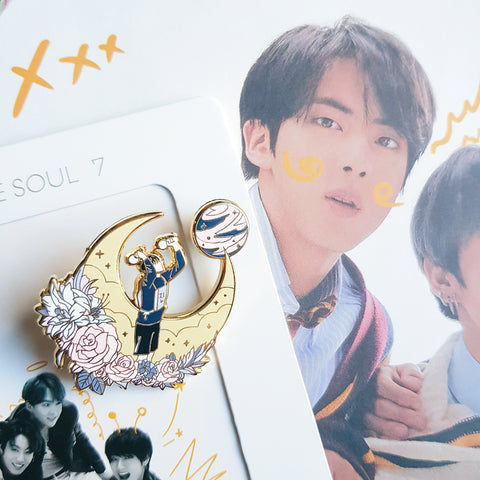 Jin Moon BTS Pin