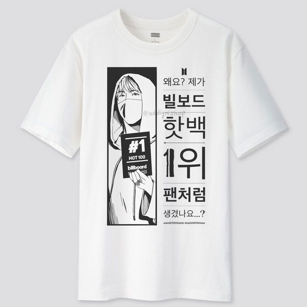 BTS #1 Billboard Hot 100 Shirt