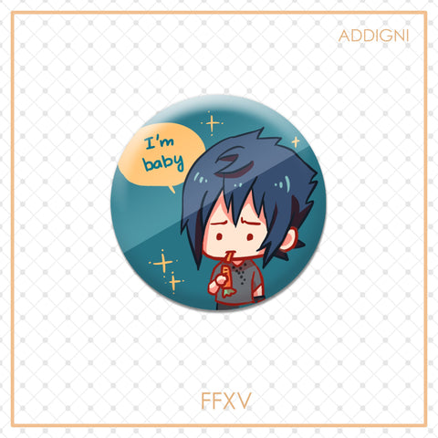 FFXV Badges: Noctis is baby
