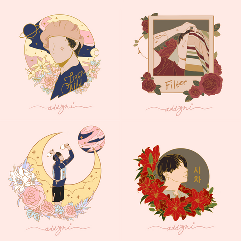 Mots:7 Vocal Line Pin Set