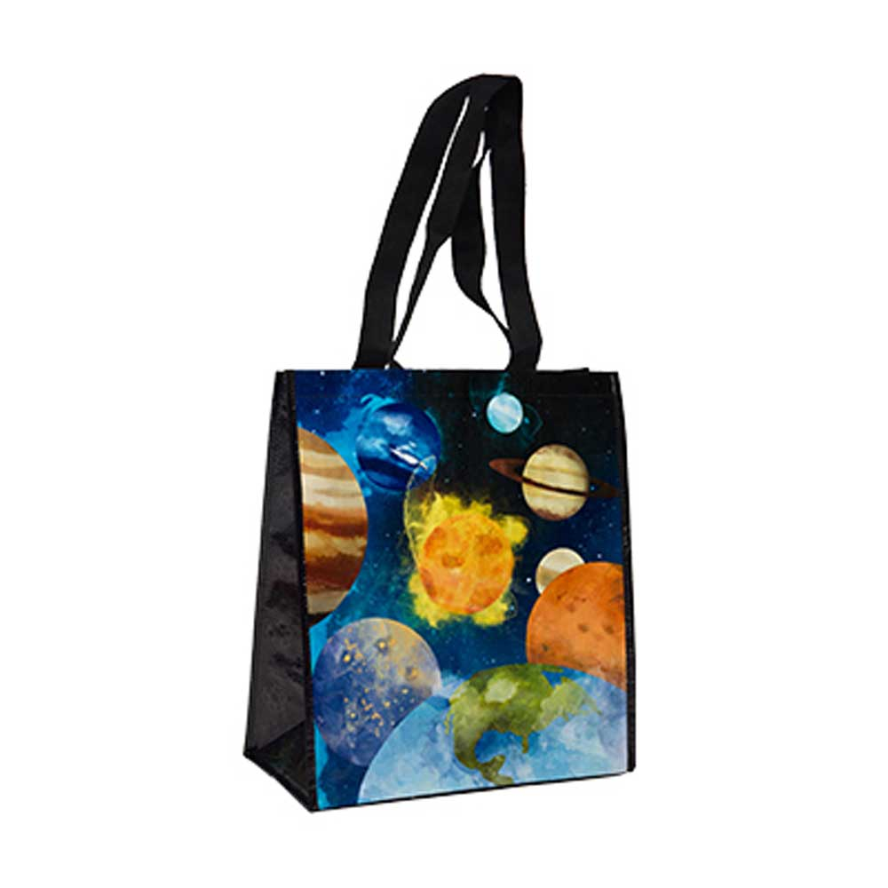 Solar System Recycled Watercolor Tote Bag