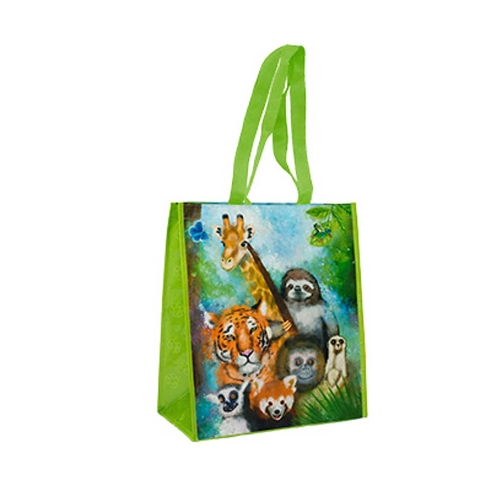 Zoo Recycled Watercolor Tote Bag