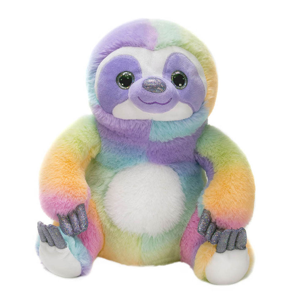 "Rainbow Sherbet - 11"" Sitting Sloth"