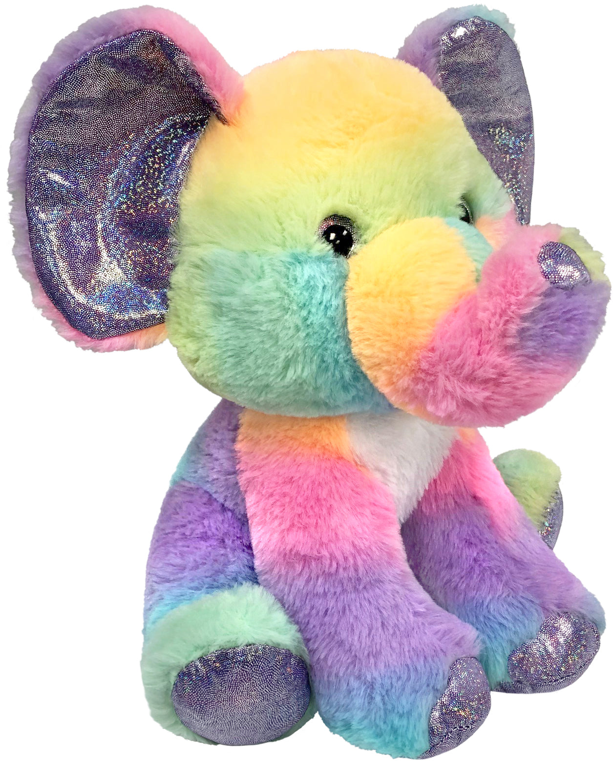 "Rainbow Sherbet - 10.5"" Sitting Elephant"