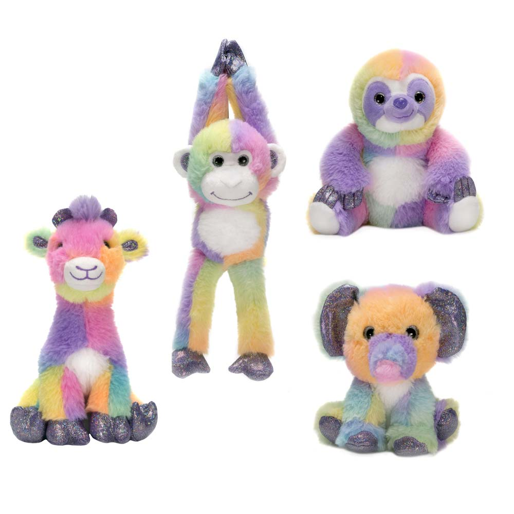 "Rainbow Sherbet - 6.5"" Assorted Jungle Animals"