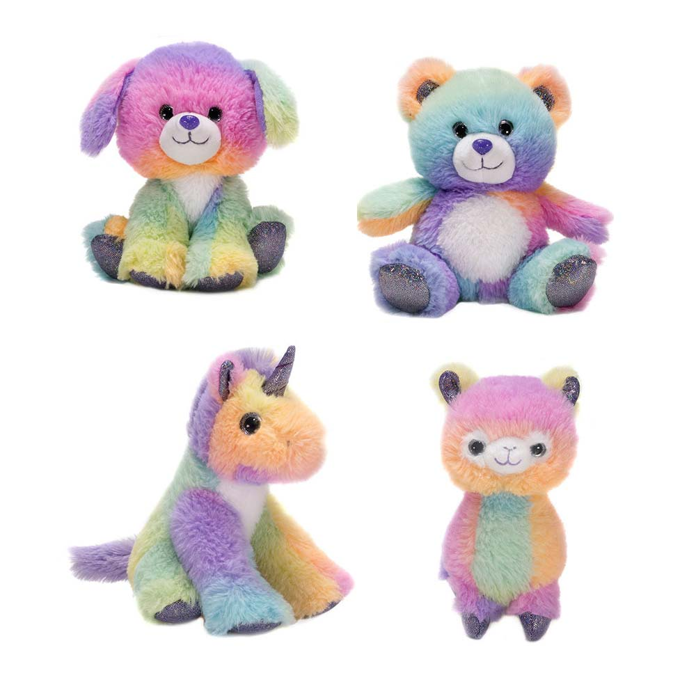 "Rainbow Sherbet - 6.5"" Assorted Animals"