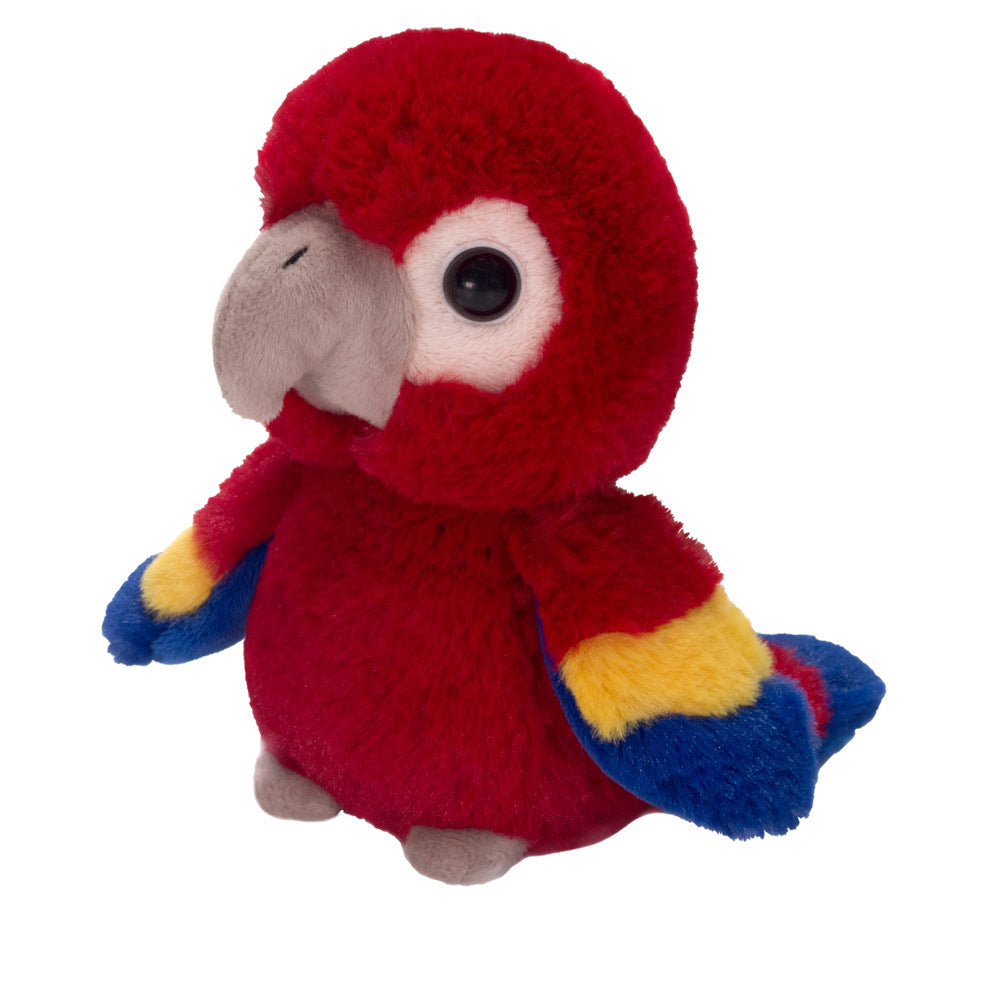 "7"" Pete - Floppy Bean Bag Red Parrot"