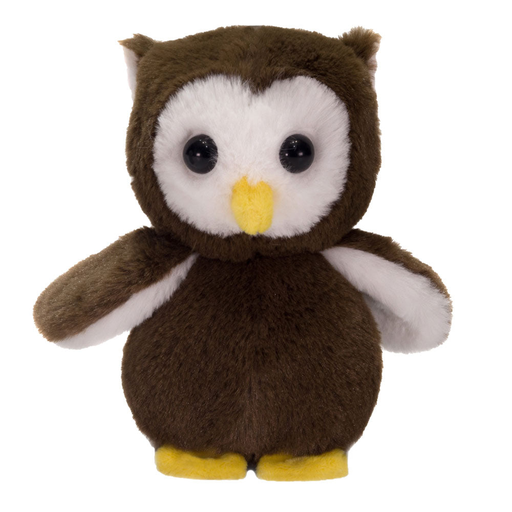 "7"" Hoot - Floppy Bean Bag Brown Owl"