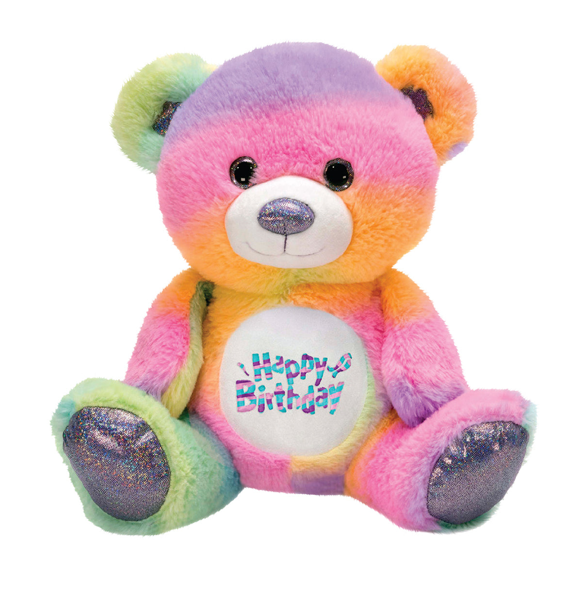 "Rainbow Sherbet - 10.5"" Happy Birthday Bear"