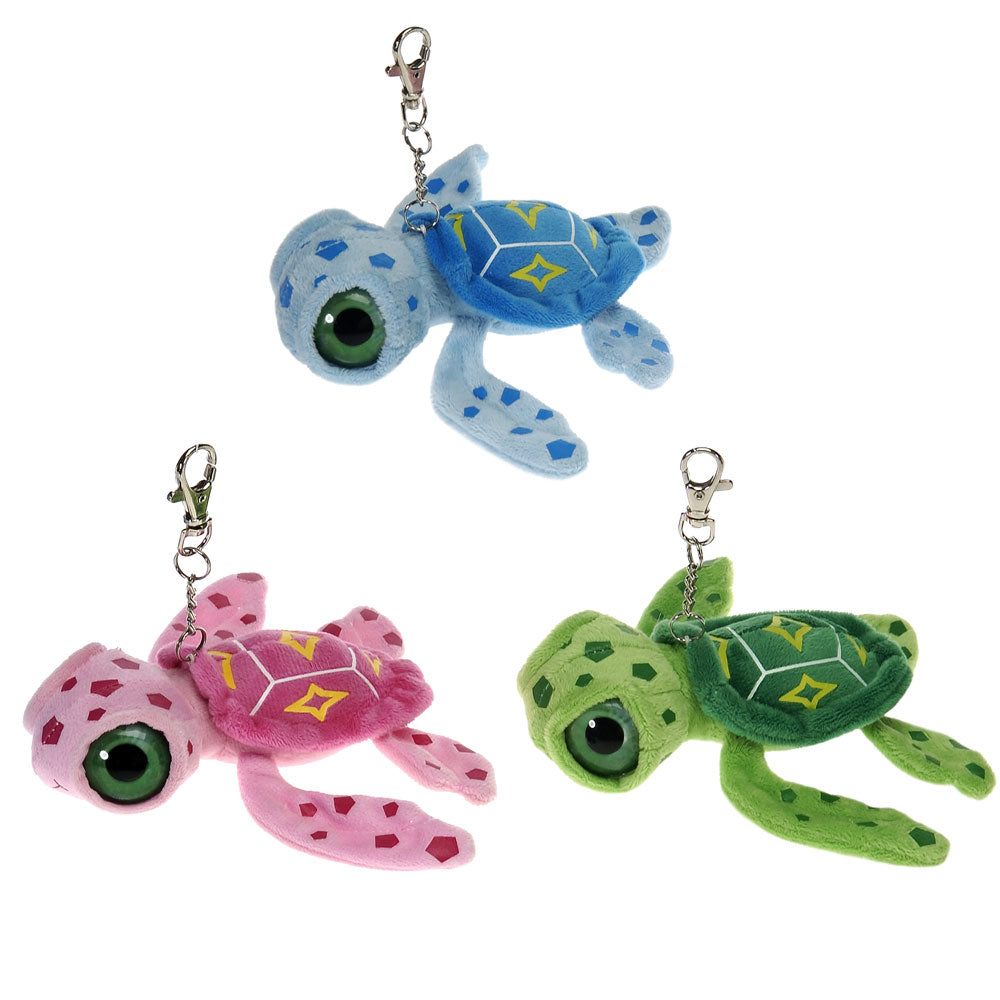 "6"" Big Eye Sea Turtle Keyclip"