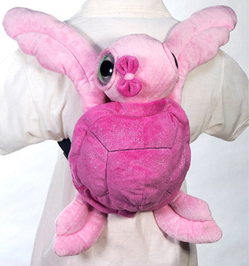 "15"" Big Eye Pink Turtle Backpack"