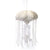"14"" White Glitter Jellyfish"