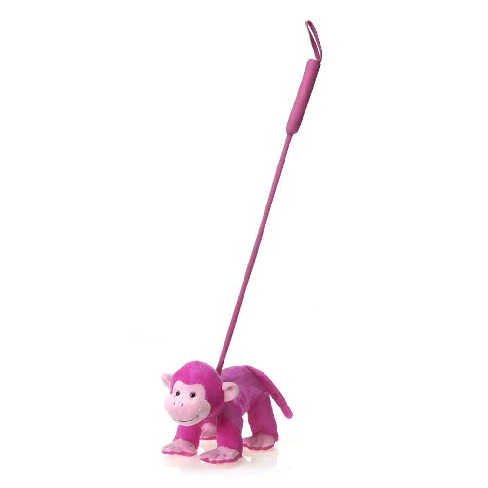 "Walk-Your-Petz 10.5"" Pink Monkey"