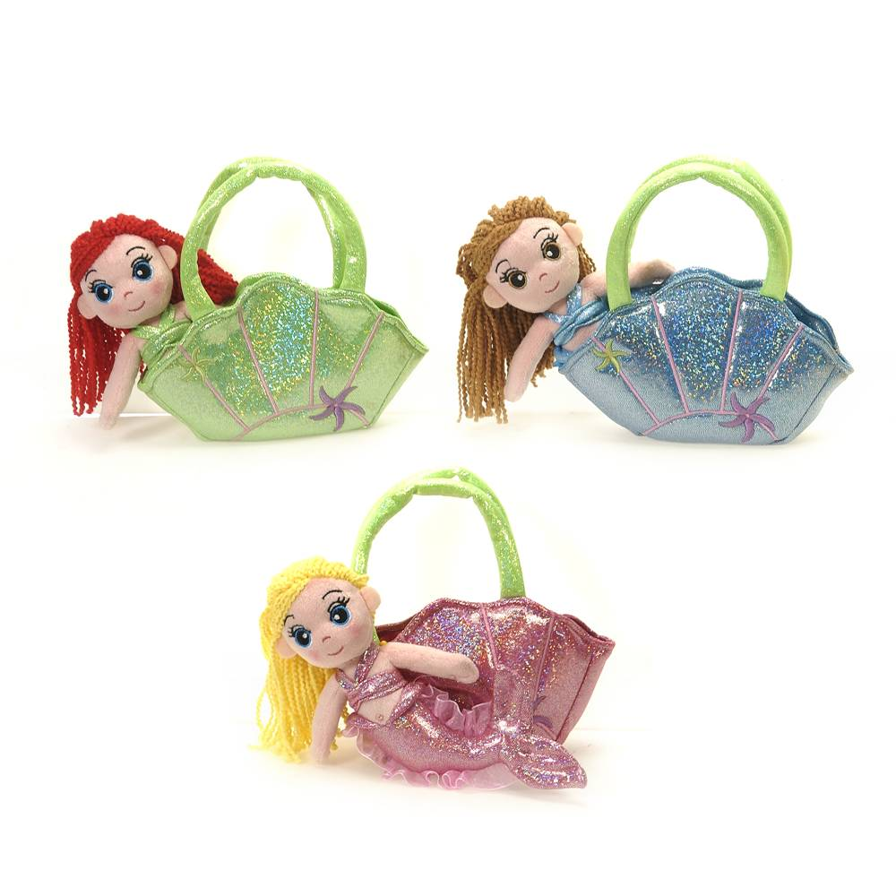 "7"" Mermaids in Clamshell Purse"