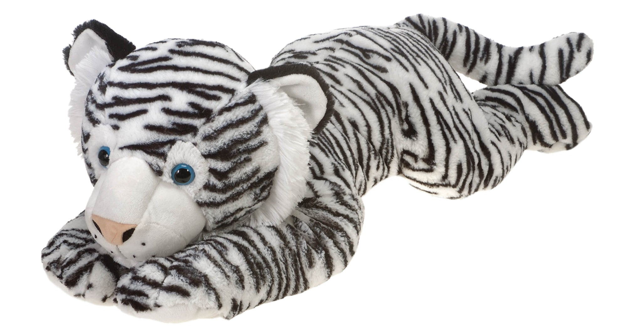 "32"" Lay Down White Tiger"