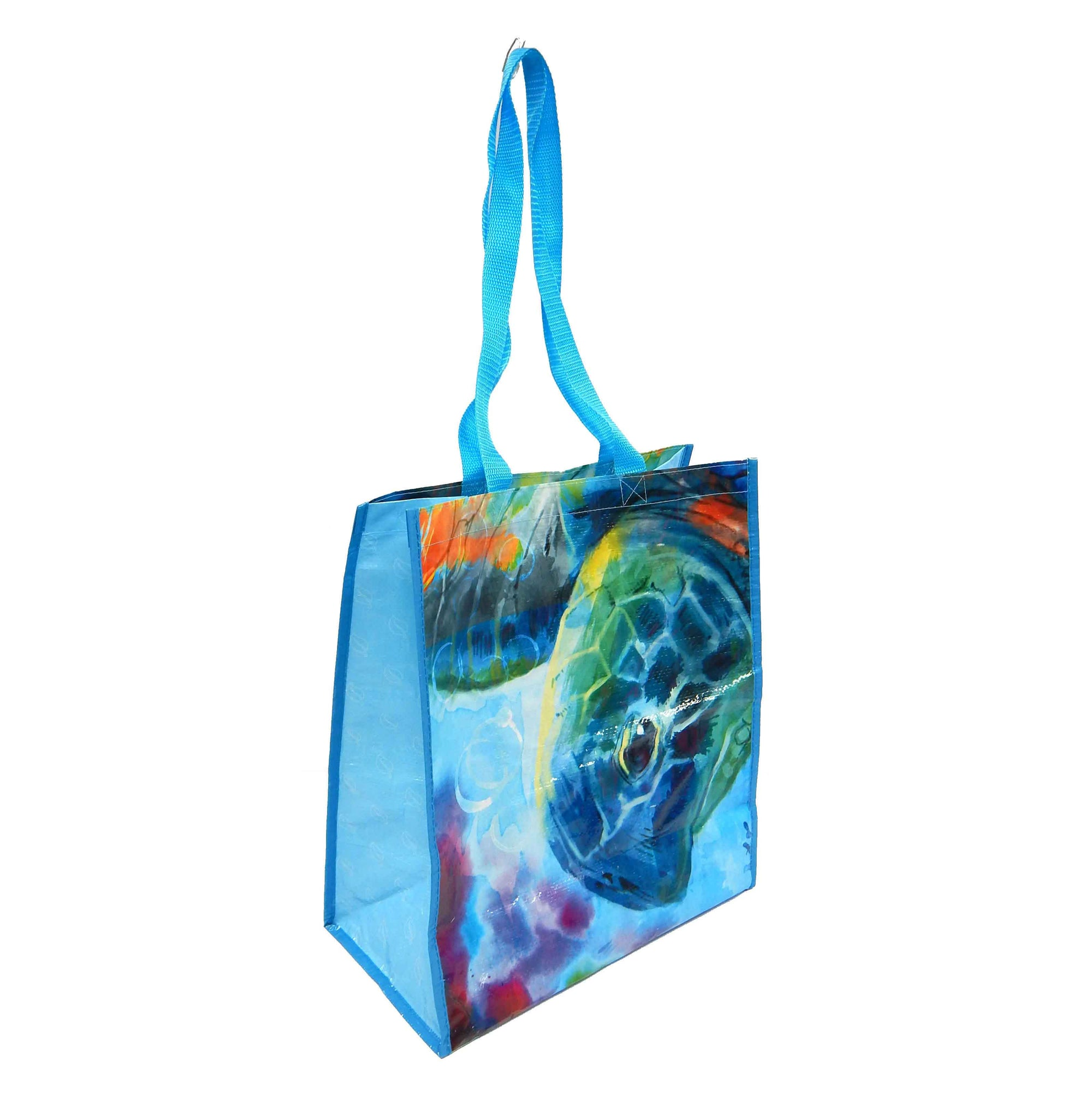 Sea Turtle Recycled Watercolor Tote Bag