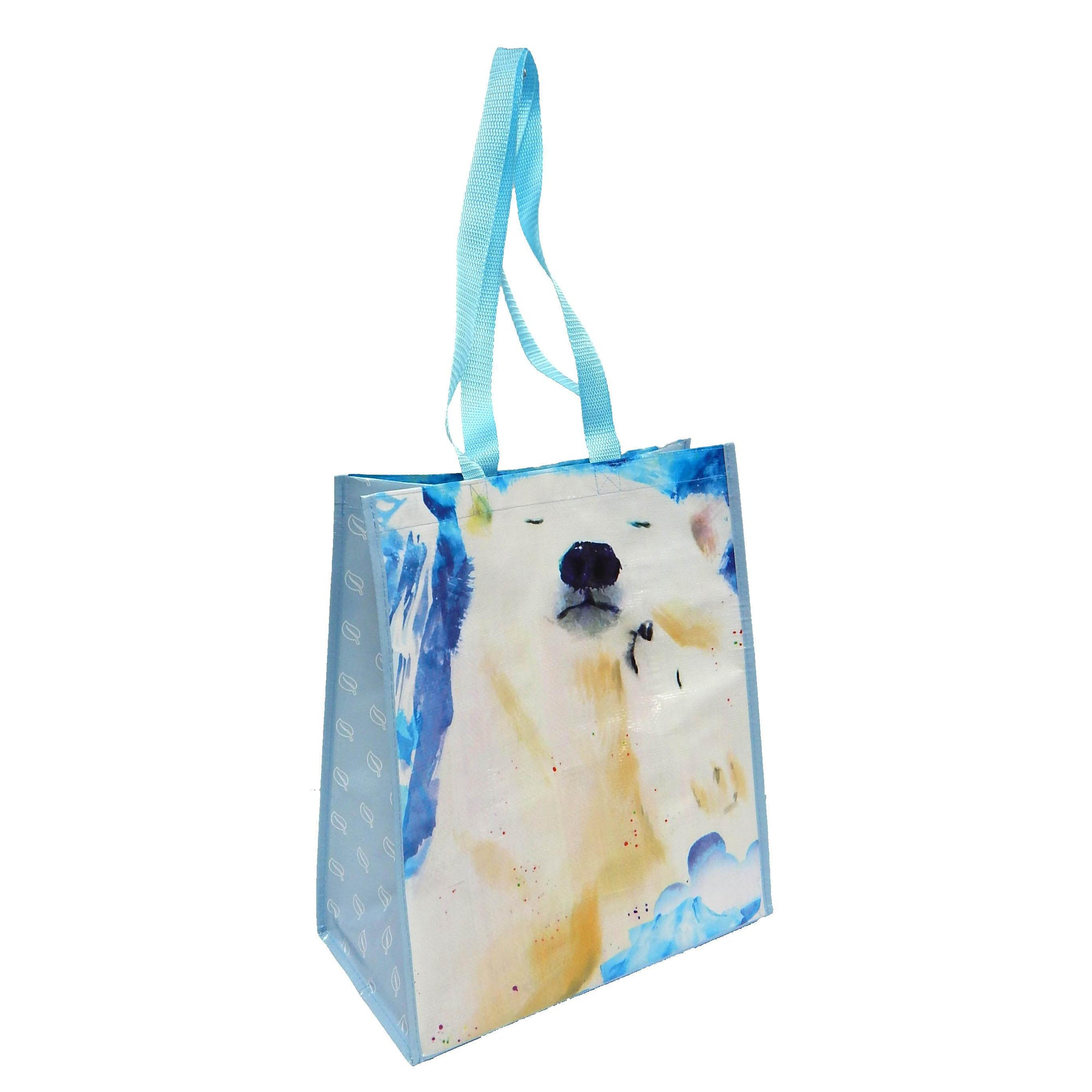 Polar Bear Recycled Watercolor Tote Bag