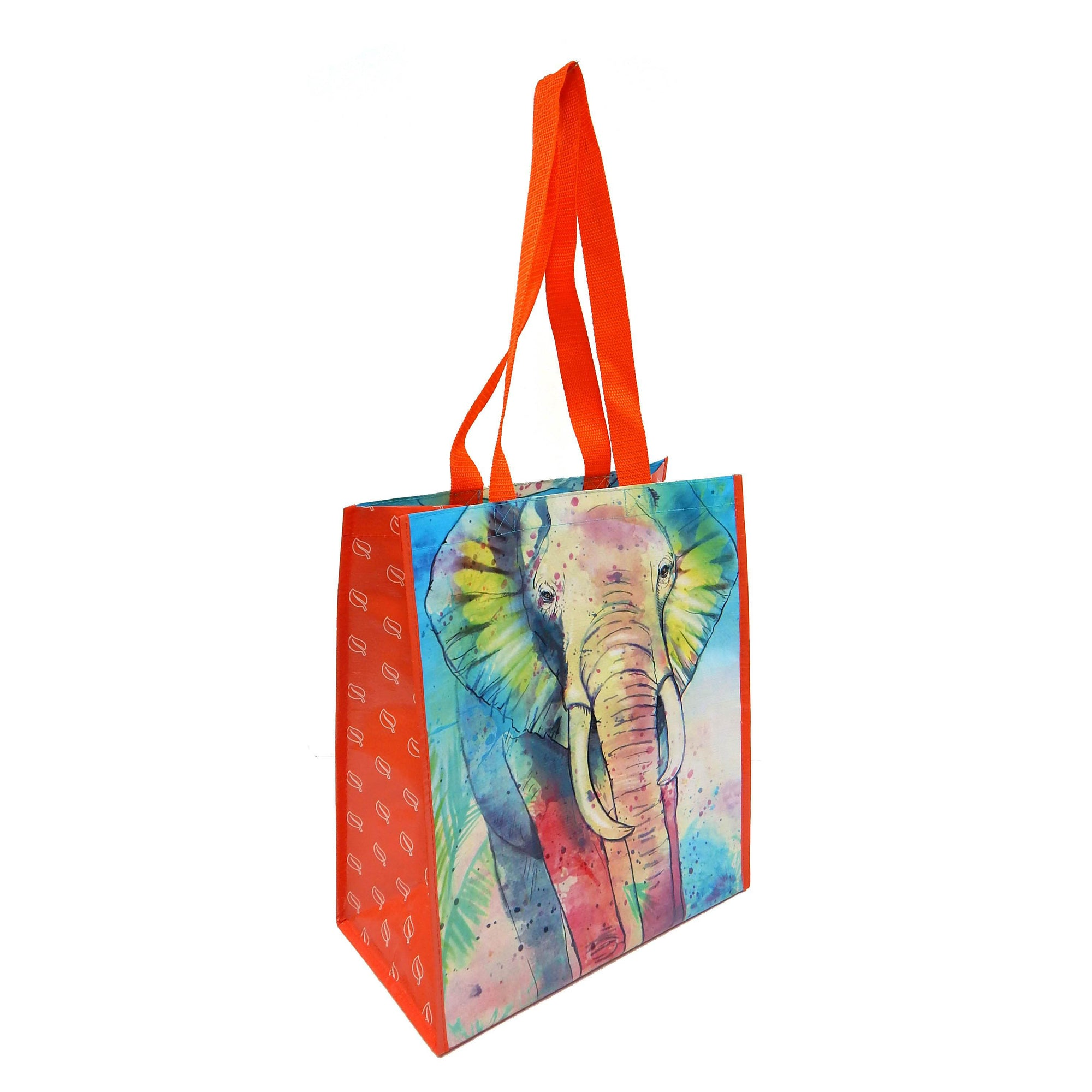 Elephant Recycled Watercolor Tote Bag