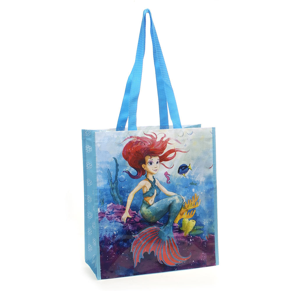 Mermaid Recycled Watercolor Tote Bag