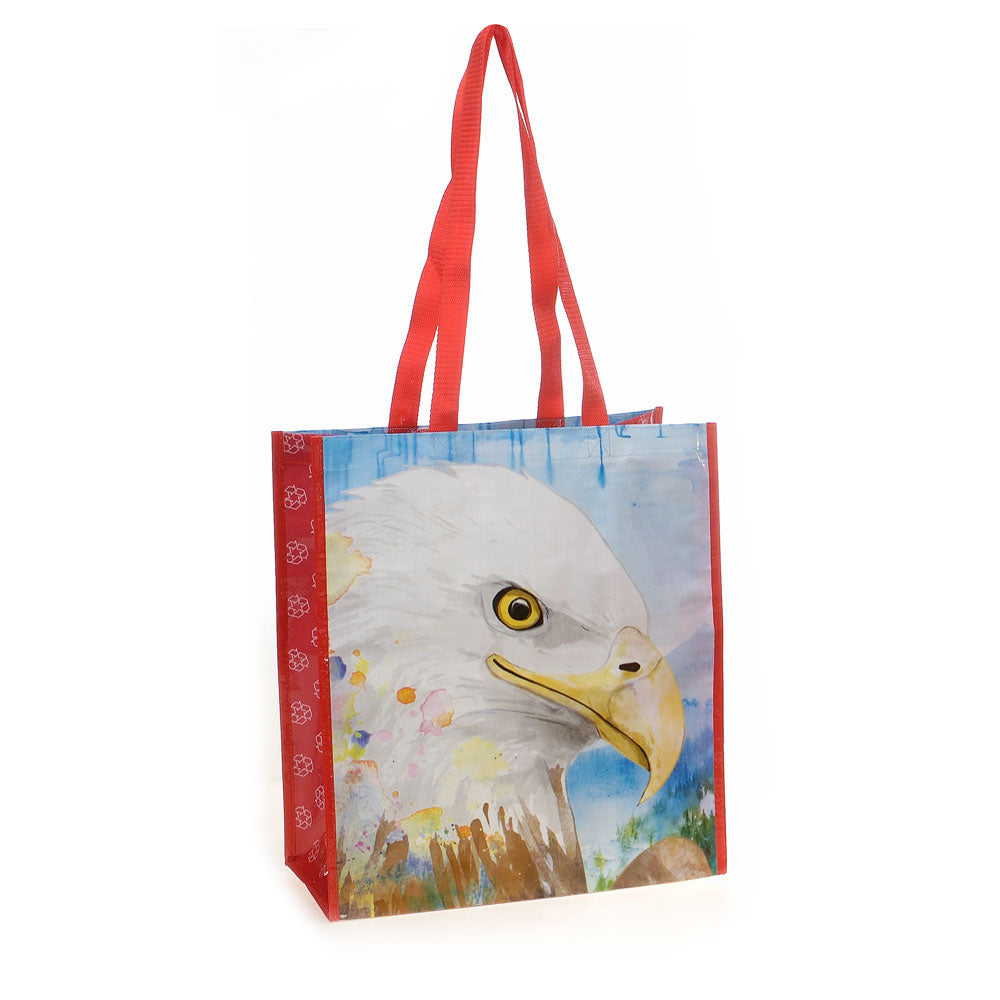 Eagle Recycled Watercolor Tote Bag