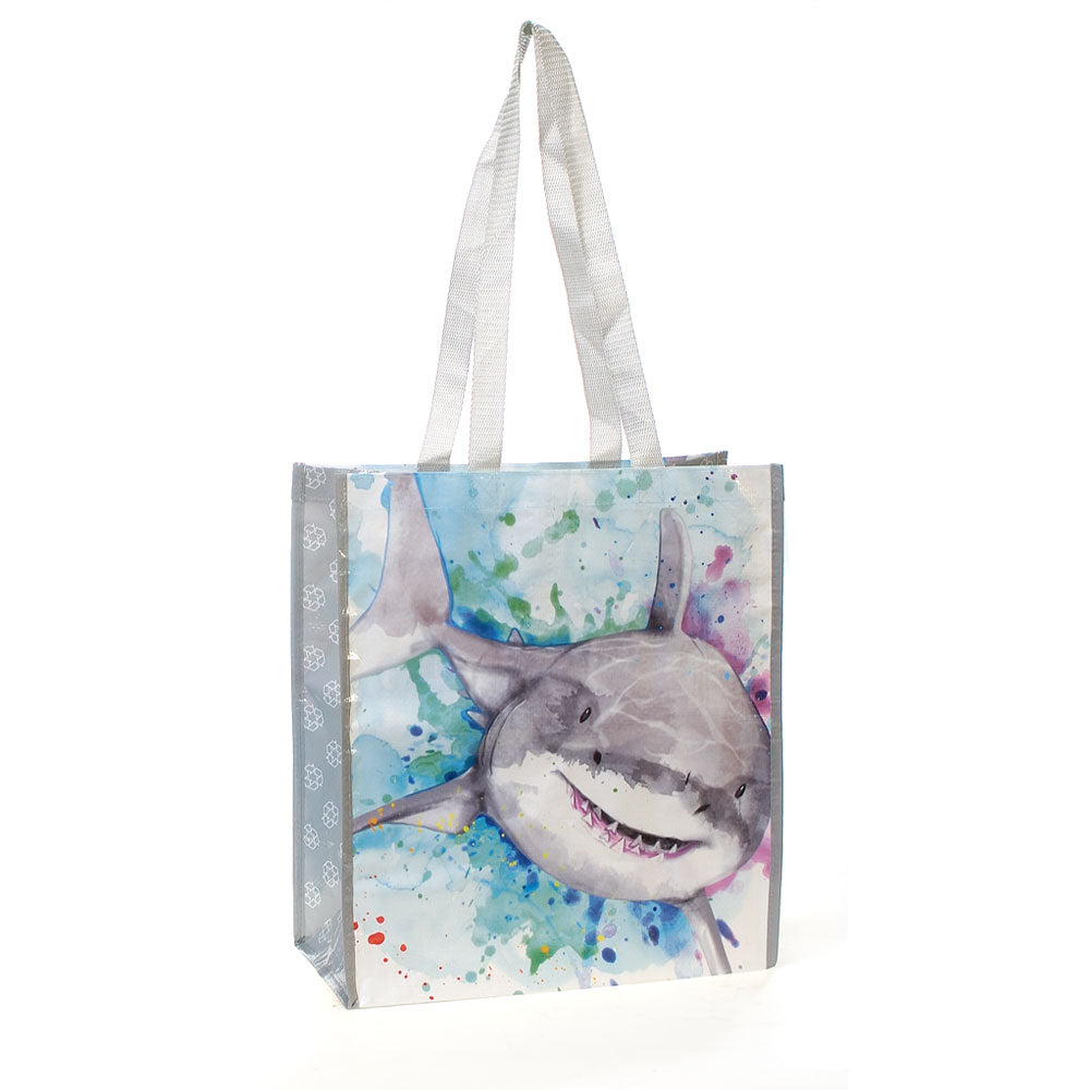 Shark Recycled Watercolor Tote Bag